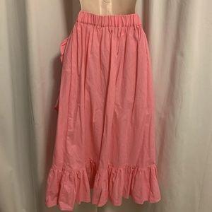 ASOS Skirts - ASOS Bright Pink Faux Wrap Midi Skirt